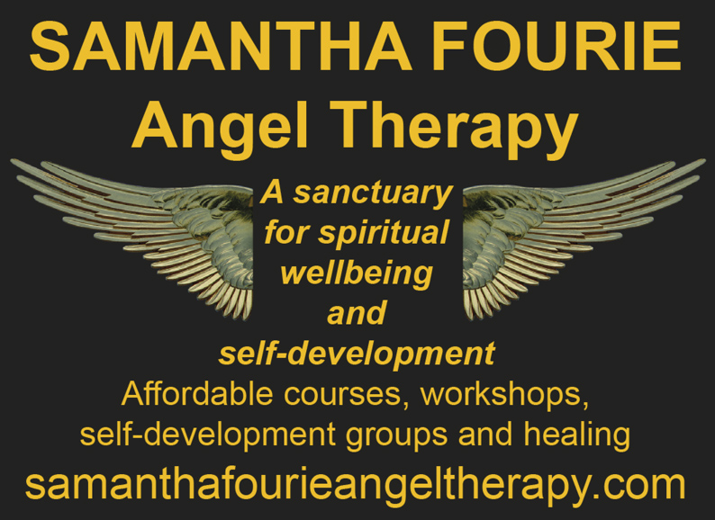 SAMANTHA FOURIE  Angel Therapy A sanctuary for spiritual wellbeing and self-development Affordable courses, workshops, self-development groups and healing samanthafourieangeltherapy.com