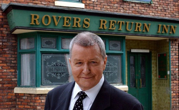 Creator and scriptwriter Tony Warren, on the Coronation Street set  (Photo: ITV)