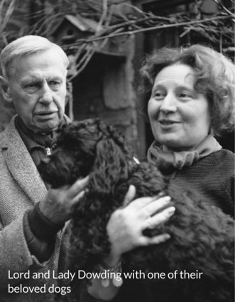 Lord and Lady Dowding with one of their beloved dogs