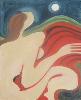 Jocelyn Chaplin's painting, Yearning for the Moon
