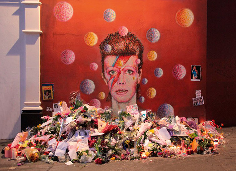 Shrine to Bowie in Brixton