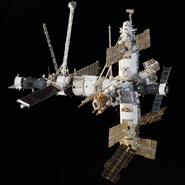 THE Mir Space Station as seen from the Space Shuttle Endeavour. (Photo: NASA)