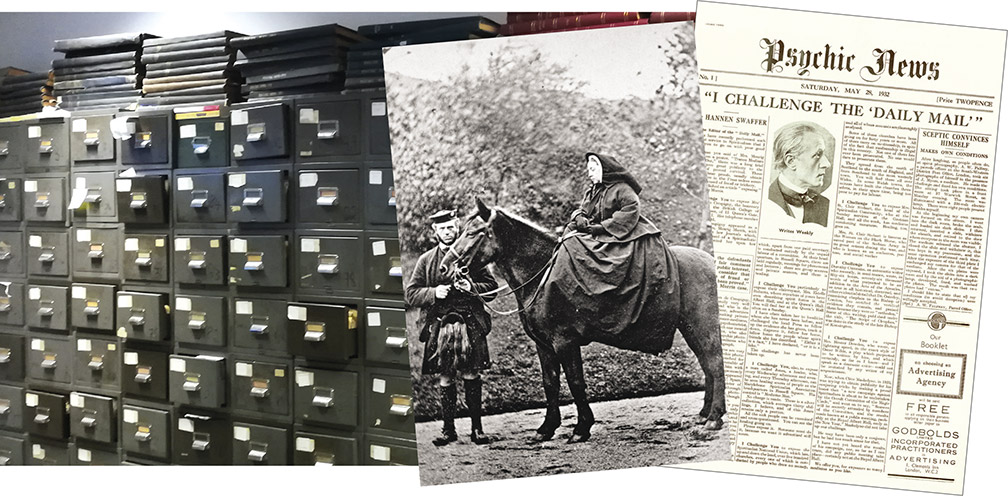 "HOUSED in metal cabinets, the original archives at ""Psychic News"" comprised countless thousands of paper cuttings. (Photo: Magnus Smith). Queen Victoria is seen with her faithful servant John Brown. Famous journalist Hannen Swaffer wrote the first lead story for ""Psychic News"" in 1932."