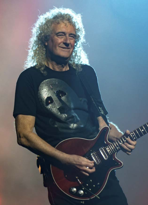 "BRIAN MAY: ""Animals around us see, hear and feel, almost exactly as we do."" Here, he is seen playing at London's O2 Arena last year. (Photo: Raph_PH)"