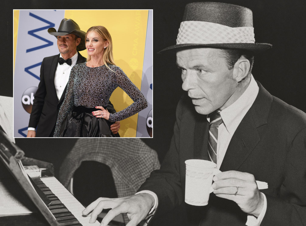 Country singers Tim McGraw and Faith Hill at the 50th Annual CMA Awards 2016 (Photo: ABC/Image Group LA)  Ol' Blue Eyes, Frank Sinatra, is back ... in spirit