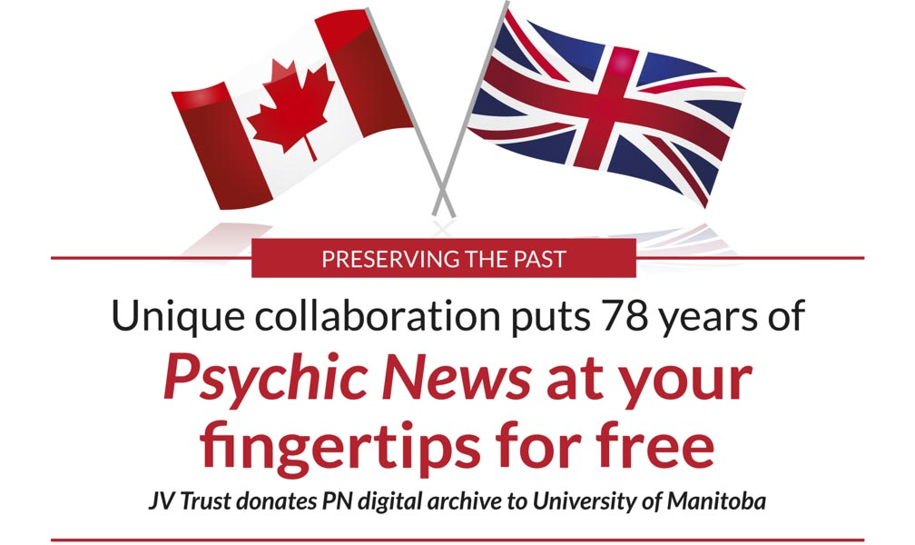 PRESERVING THE PAST – Unique collaboration puts 78 years of Psychic News at your 