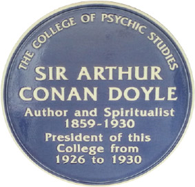 blue plaque that now adorns the building, commemorating Sir Arthur Conan Doyle's association with the College