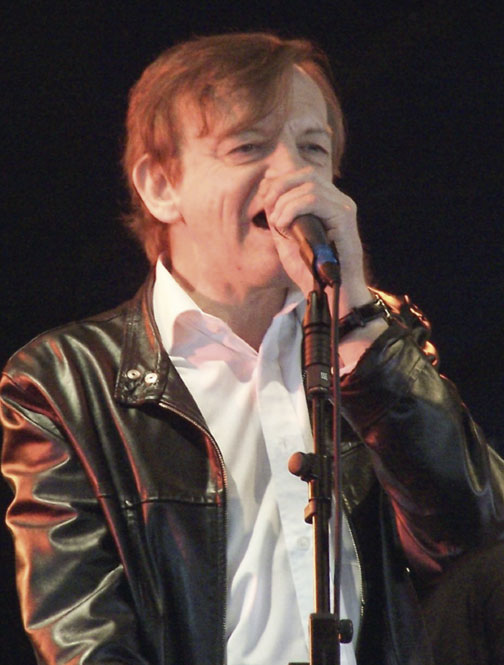 Mark E. Smith performing with The Fall in Edinburgh in 2011   (Photo: Cernunnos XPP Yaun)