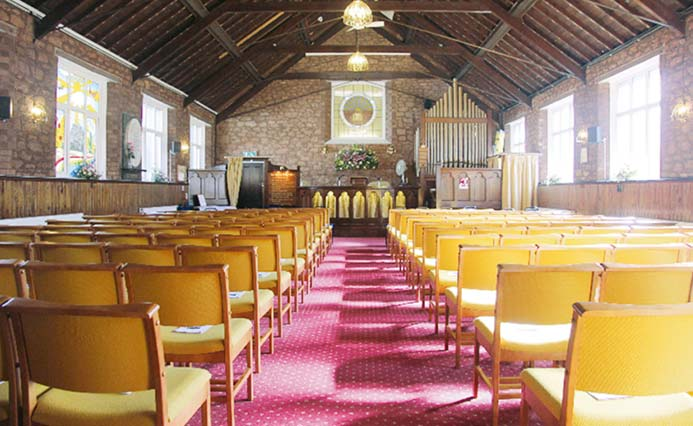 The inside of Paignton Church