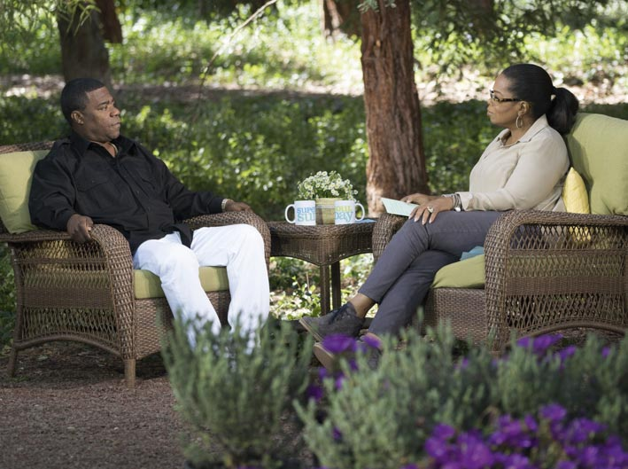 Tracy Morgan and Oprah on Super Soul Sunday  (Photo: Harpo, Inc./Jose Tutiven)