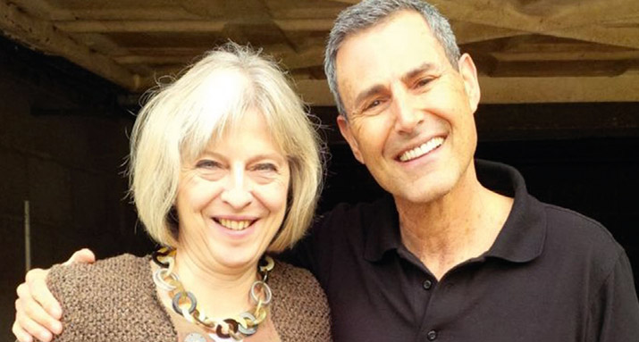 THERESA MAY is seen with Uri Geller at his former home when he predicted that she would become Prime Minister. (Photo: urigeller.com)