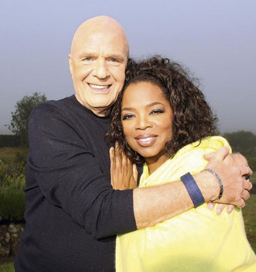 Dr Wayne Dyer and Oprah   Photo: Oprah Winfrey Network