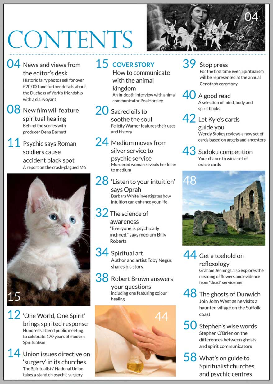 In this issue...     Communication with animals      PLUS...        Murdered woman reveals  her killer
