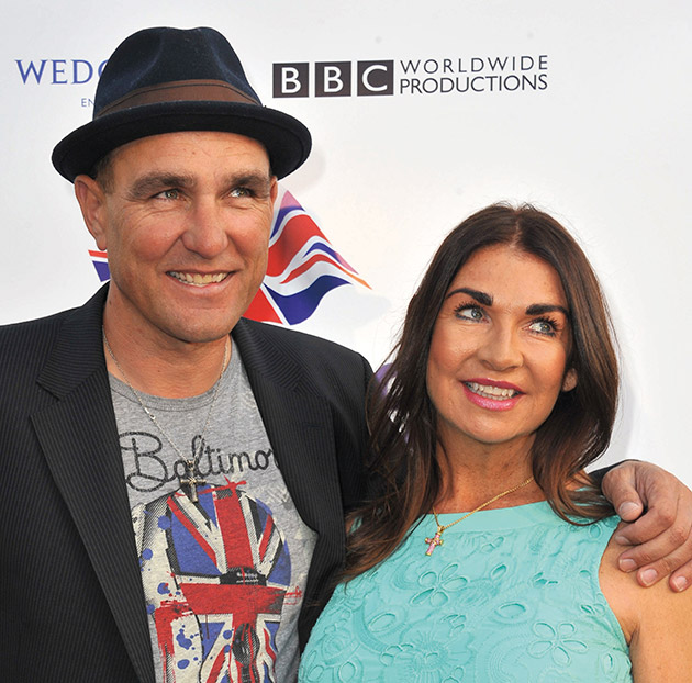 VINNIE JONES with his wife Tanya, who passed on at their Los Angeles home. (Photo: Featureflash Photo Agency/Shutterstock.com)