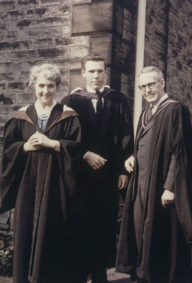 Roger Whitby with his parents George and Florence at his Sheffield University graduation in the summer of 1963.