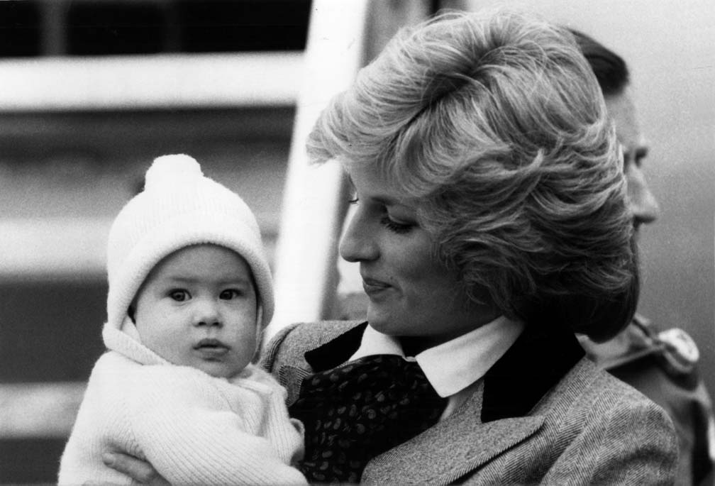 Diana with Prince Harry in 1985