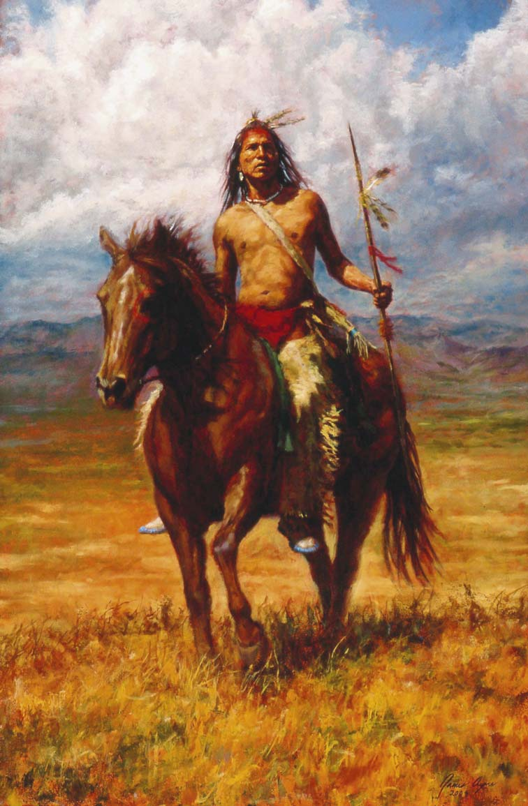 "ENTITLED ""Master of His Land,"" this inspiring painting of a Native American is by James Ayers. (Photo: James Ayers)."