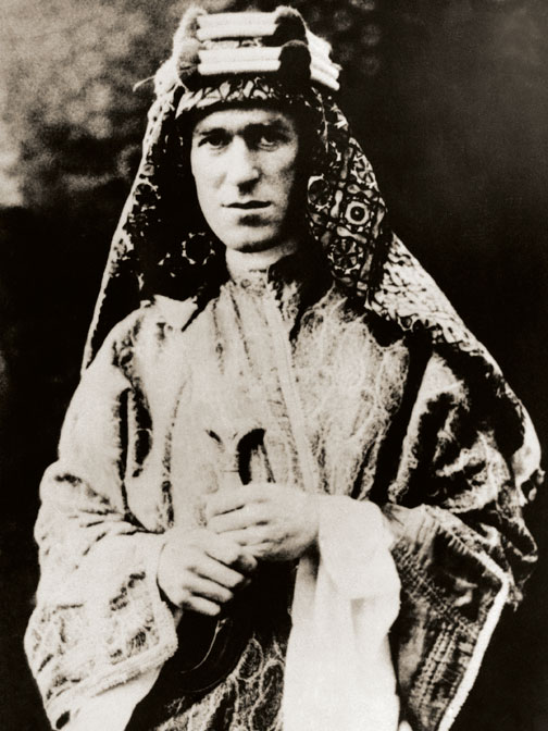T.E. Lawrence in Bedouin-style dress