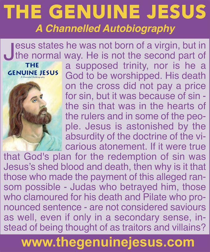 THE GENUINE JESUS: A Channelled Autobiography – www.thegenuinejesus.com